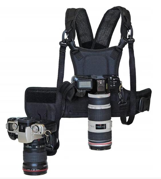 Quickly switch cameras/Dual Camera Harness-Multi Camera Carrying Vest System