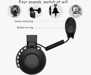 Upgrade Electric Bike Horn - Mini But Powerful Alert Bell