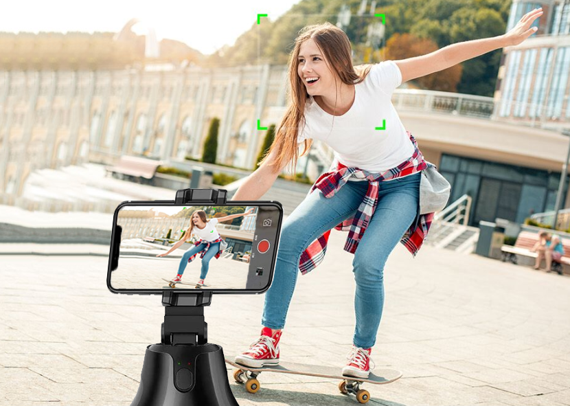 50% OFF-All-in-one Smart Auto Shooting Gimbal -  360° Rotation & Auto Object Tracking