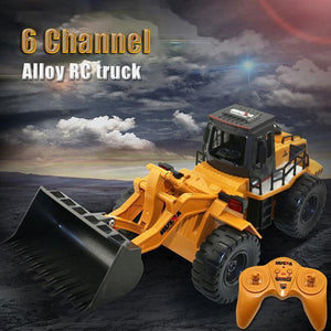 2018 NEW 2.4GHZ RADIO CONTROL BULLDOZER CONSTRUCTION VEHICLE ALLOY 6 CHANNEL 4 WHEEL LOADER REMOTE CONTROL SIMULATION TRUCK