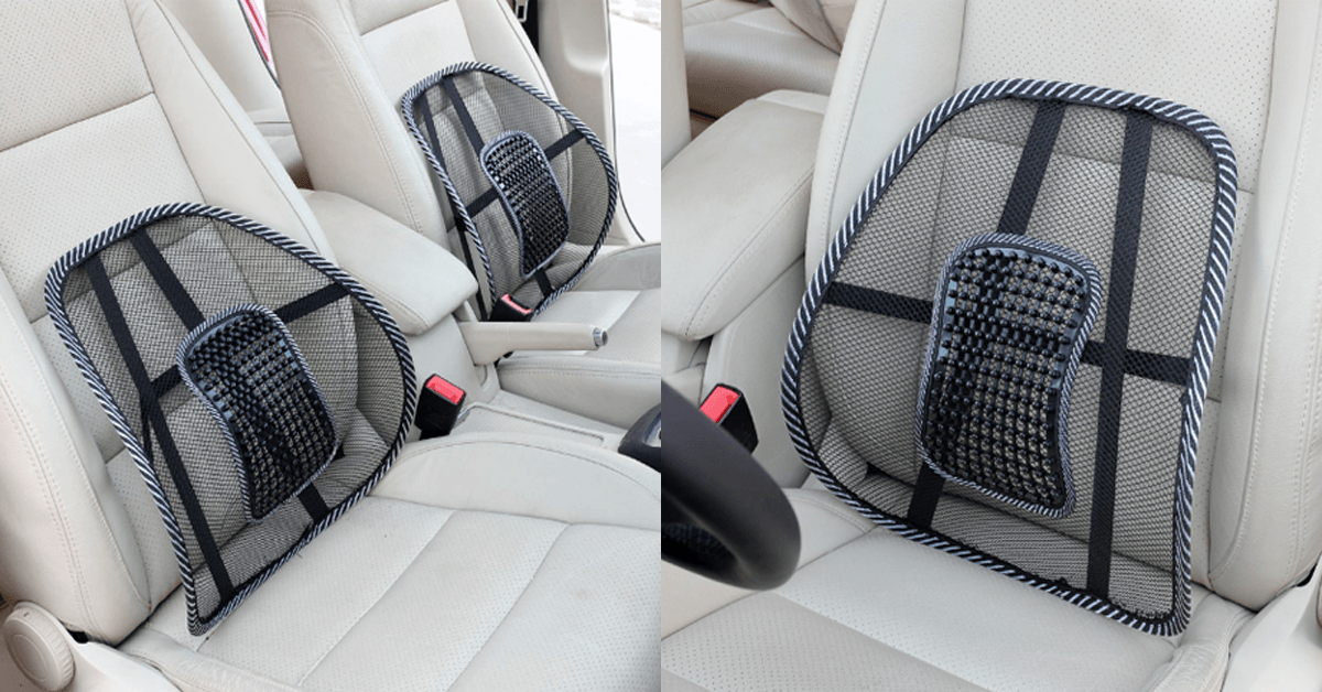 Lumbar Support,Mesh Back Cushion Lower Back Support for Use in Car Home and Office