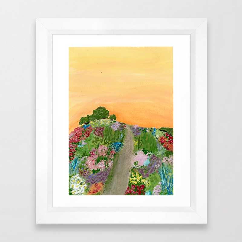 sunset meadow (print)