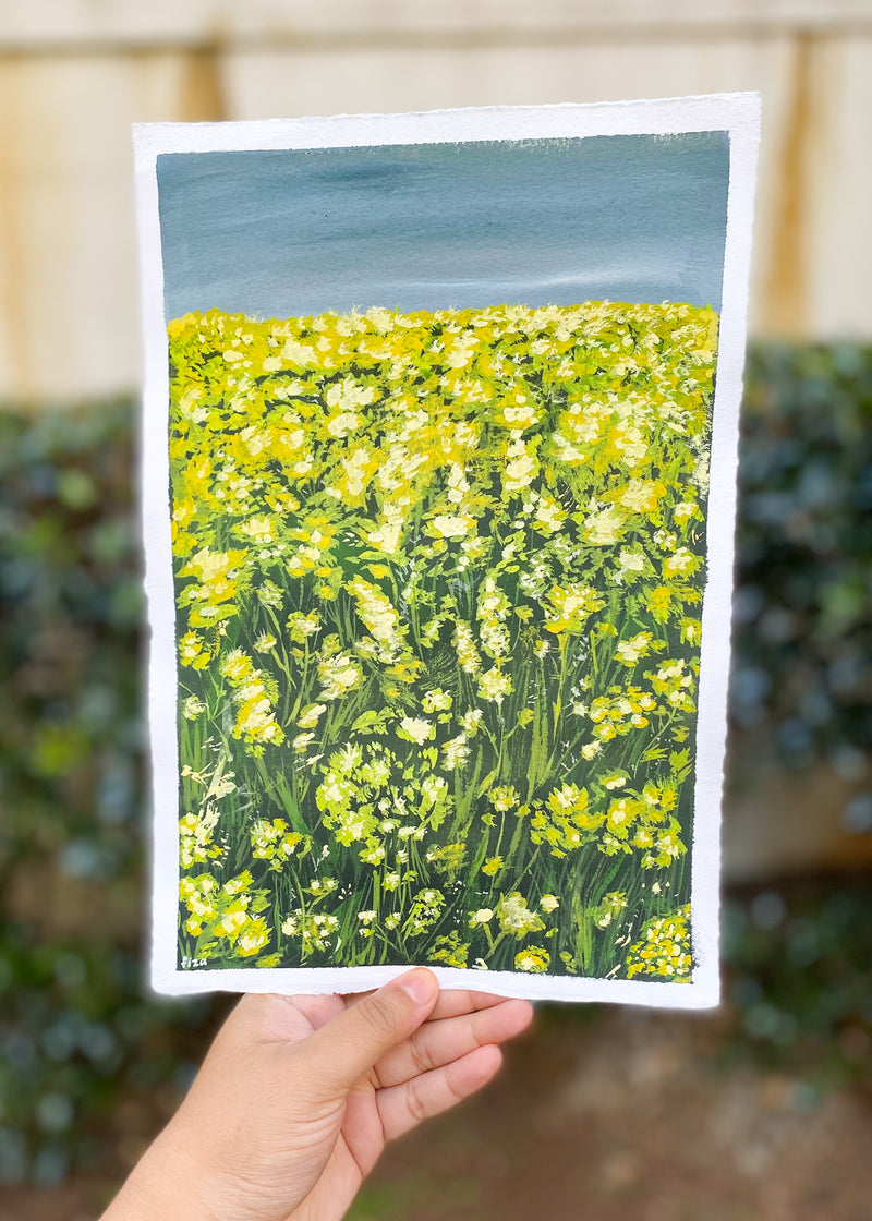 yellow meadow (7.5x11)