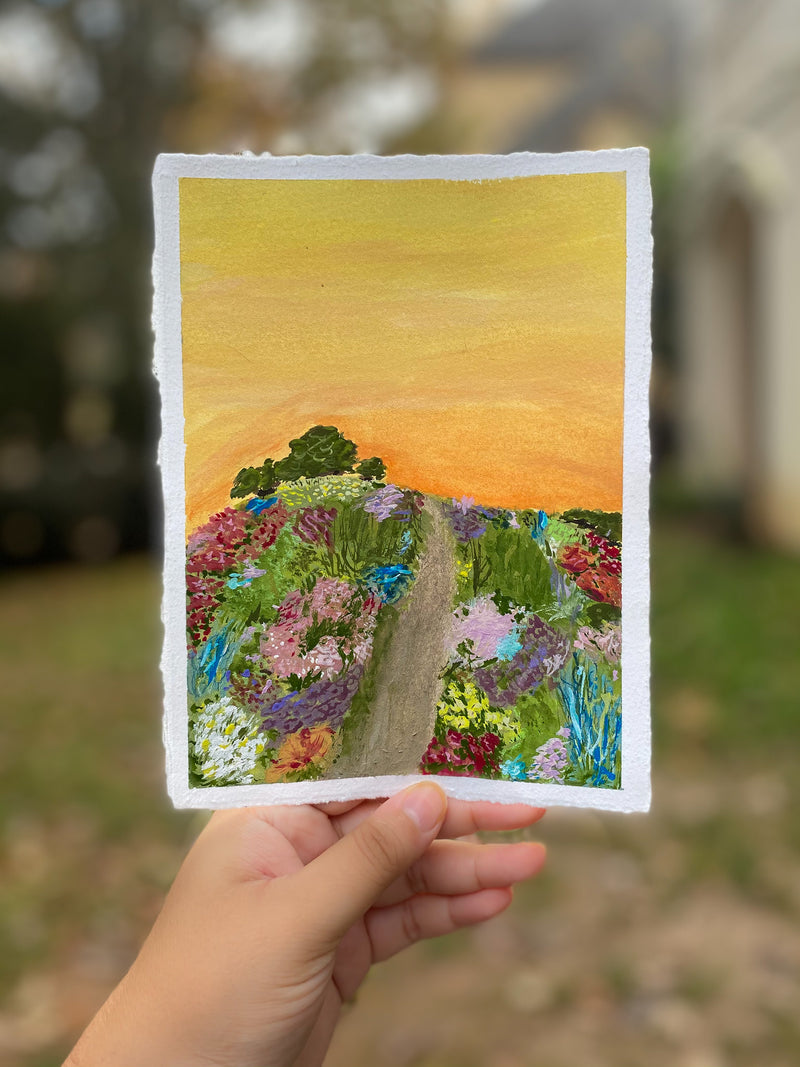 "sunset meadow (5.5""x7.5)"