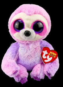 beanie boo-sloth-dreamy-purple