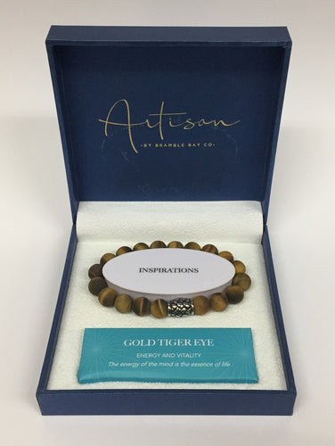 artisan bracelet gold tiger eye