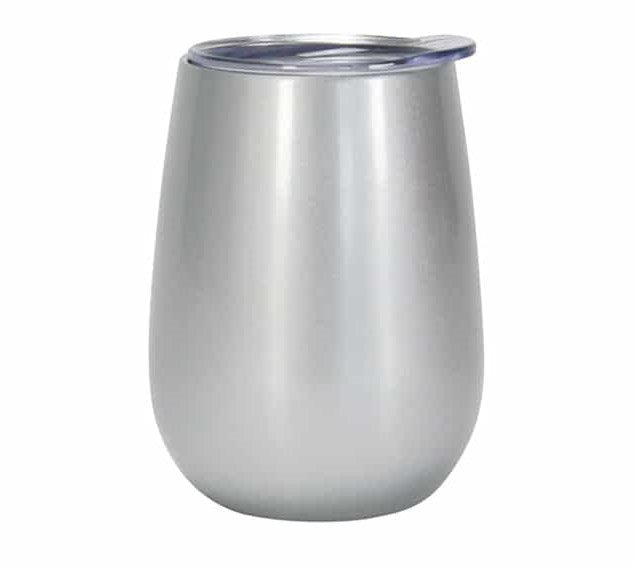 WINE TUMBLER DOUBLE WALL STAINLESS STEEL SILVER - ANNABEL TRENDS