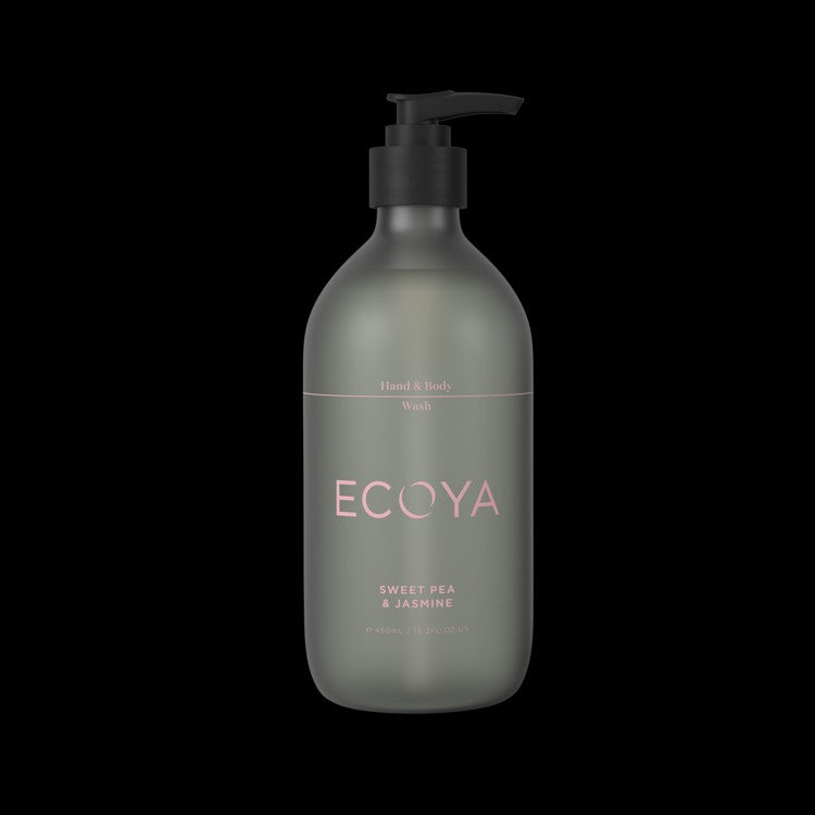 ECOYA HAND & BODY WASH 450ML SWEET PEA & JASMINE