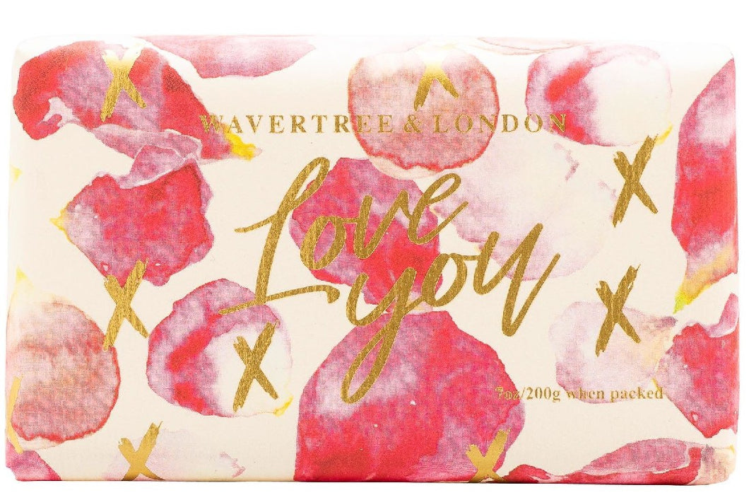 WAVERTREE & LONDON SOAP LOVE YOU PETALS