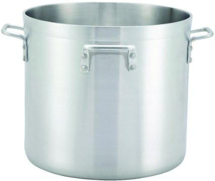 Winco ALHP-120H 120 Qt Extra Heavy Duty Aluminum Stock Pot with 4 Handles