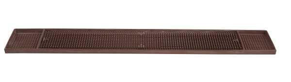 Winco BM-327B Brown 27'' X 3-1/4'' Bar Mat