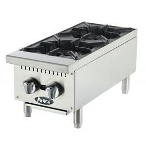 "Atosa ACHP-12-2 12"" Countertop 2 Burner Gas Hot Plate"