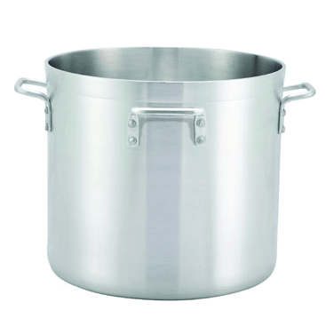 Winco ALHP-160H 160 Qt Extra Heavy Duty Aluminum Stock Pot with 4 Handles