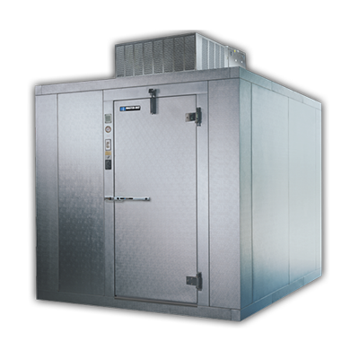 "Master-Bilt 116"" Depth By 98"" High Stainless Steel Exterior And Interior Outdoor Heavy Duty Walk-In Cooler"