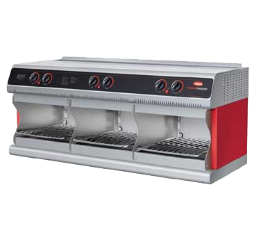 "Hatco Thermo-Finisher® Electric 3-Bay Food Finisher 3 Upper Elements & 3 Lower Elements 42""W Stainless Steel"