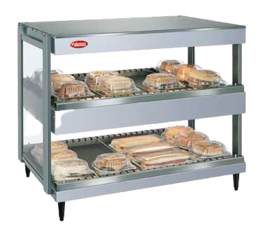 Hatco Glo-Ray® 2 Shelf 12 Rod Pass-Thru Countertop Merchandising Warmer Stainless Steel & Aluminum Construction