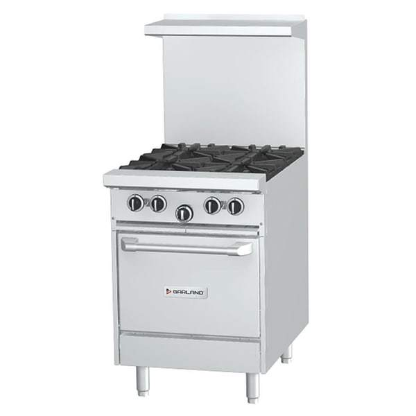 "Garland G24-4L 24"" 4 Burner Gas Range w/ Space Saver Oven, Natural Gas [Extended Lead Time 14+ days]"