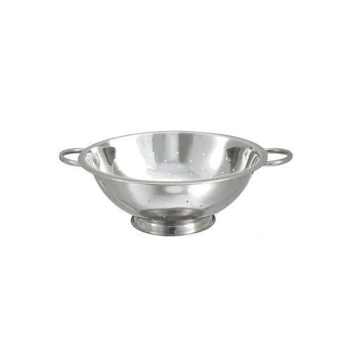 "Winco CCOD-11L 11"" Stainless Steel Colander with 5mm Holes"