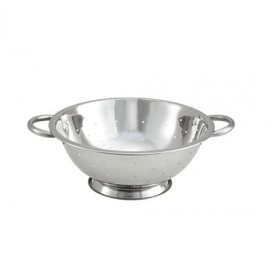 "Winco CCOD-13L 13"" Stainless Steel Colander with 5mm Holes"