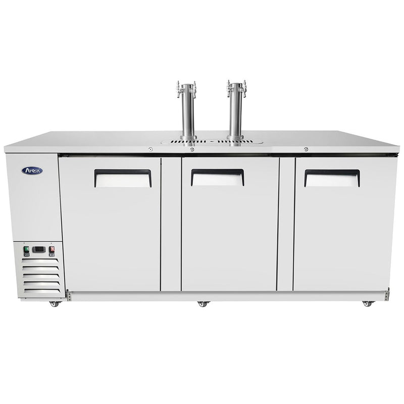 "ATOSA 90"" Keg Cooler, All SS, Dual Faucet Tower, 90""x28""x40"" MKC90"