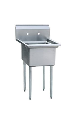 ATOSA S/S 18x18 1-Compartment Sink, NSF MRSA-1-N