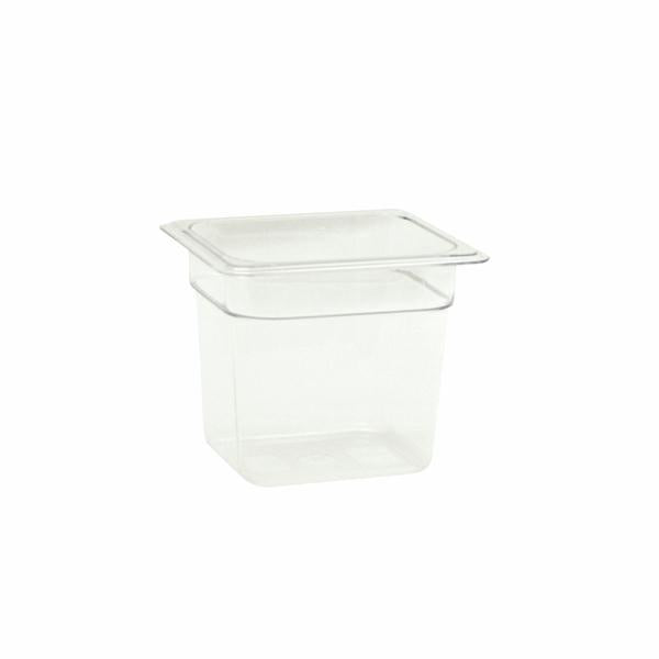"Sixth-Size Poly Food Pan, 6"" Deep- Qty of 3 PLPA8166"