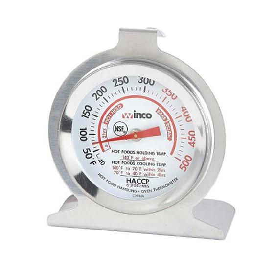 "Winco TMT-OV2 2"" Dial Oven Thermometer with Hanging Hook"