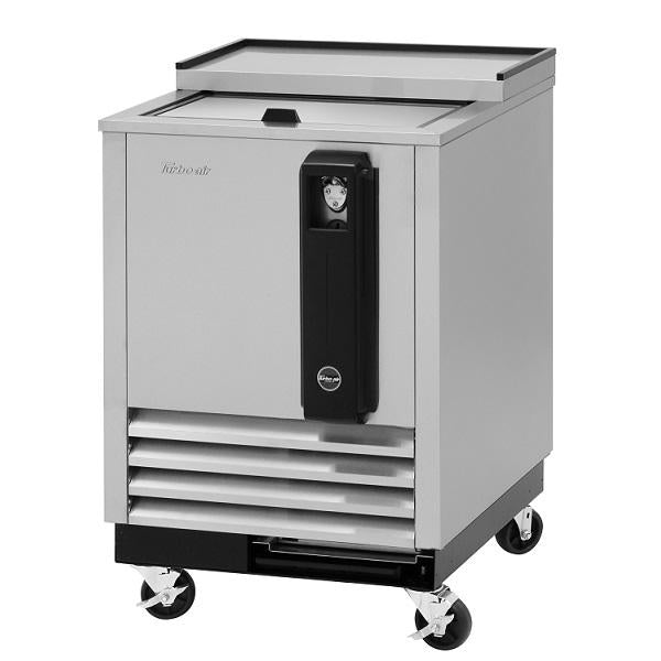 "Turbo Air TBC-24SD-N6 24"" 1 Sliding Door Stainless Steel Underbar Bottle Cooler"
