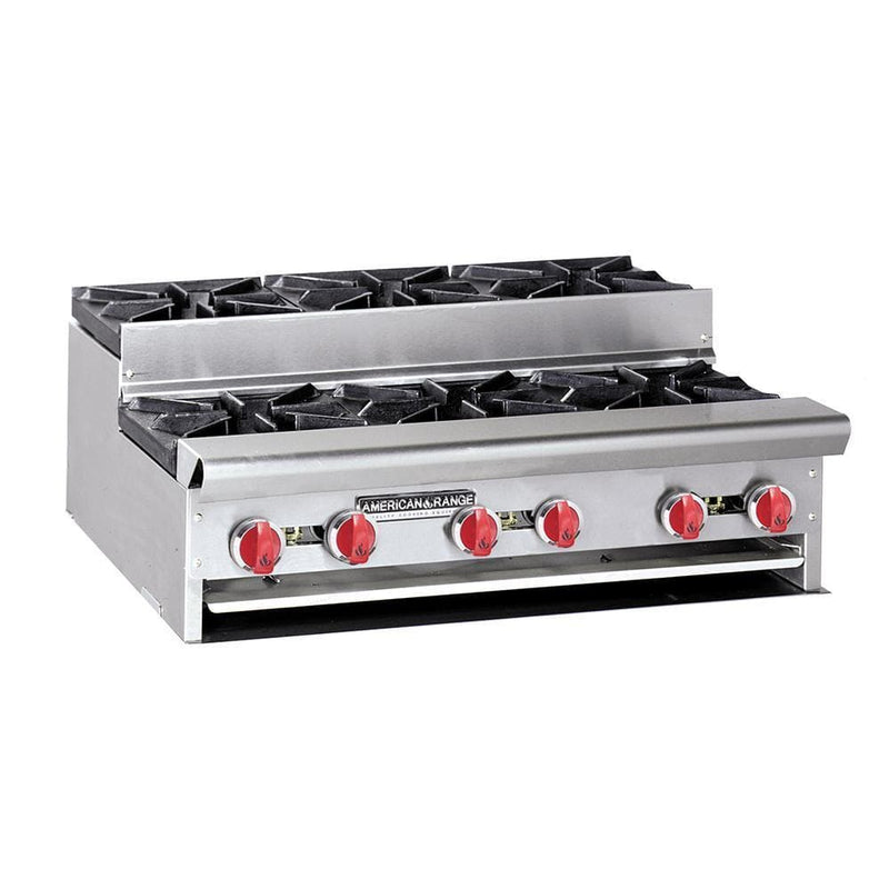 "American Range SUHP-24-4 Natural Gas/Propane Step Up 24"" Wide 4 Burner Hot Plate"
