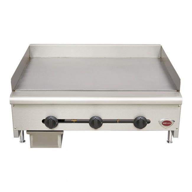 "Wells HDG3630 36"" Griddle Natural Gas or Liquid Propane Countertop"