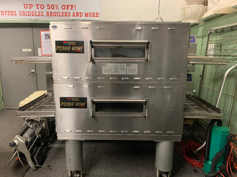 MIDDLEBY MARSHALL PS360 2016 DOUBLE STACK GAS CONVEYOR PIZZA OVEN