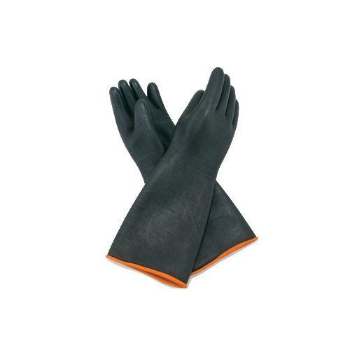"Winco NLGH-18 18"" Heavy-Duty Natural Latex Gloves"