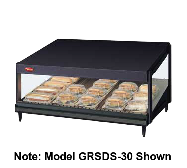 Hatco Glo-Ray® 1 Slant Shelf 5 Rod Countertop Merchandising Warmer Stainless Steel & Aluminum Construction
