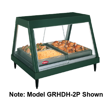 "Hatco Glo-Ray® Countertop Heated Glass Display Case 58.5""W With Humidity Stainless Steel & Aluminum Construction"