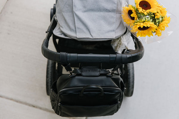 Sunflowers and Ayla Bag on Stroller