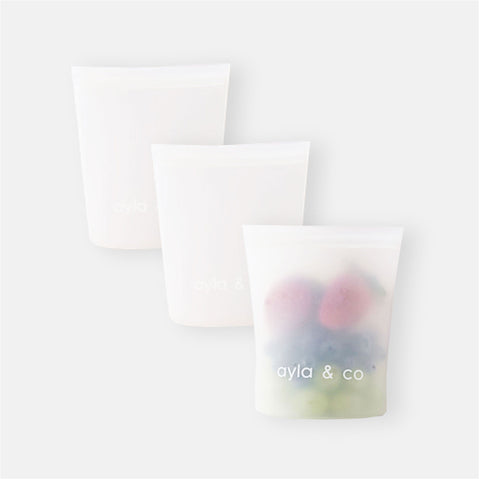 Silicone Snack Bag 3-Pack