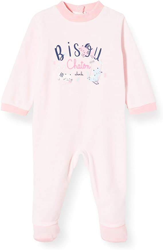 Absorba Pink Sleepsuit With Cat Style: 7Q54341