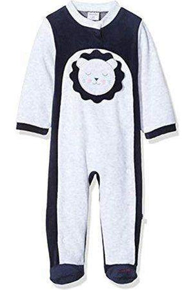 Absorba Navy & Grey Sleepsuit With Teddy