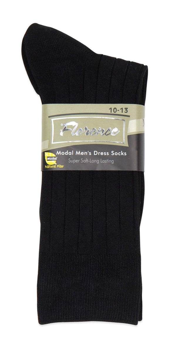 Florence Modal Mens Wide Ribbed Dress Sock Style: 275