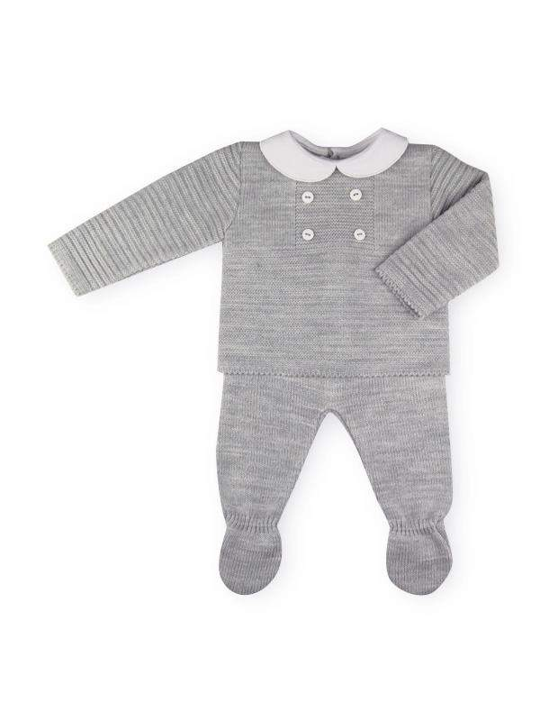 Sardon Baby Grey 2-Piece With Collar