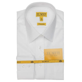 Ilmio Fine Twill Gold Label Mens Shirt Chassidisch (Right Over Left) Slim Fit