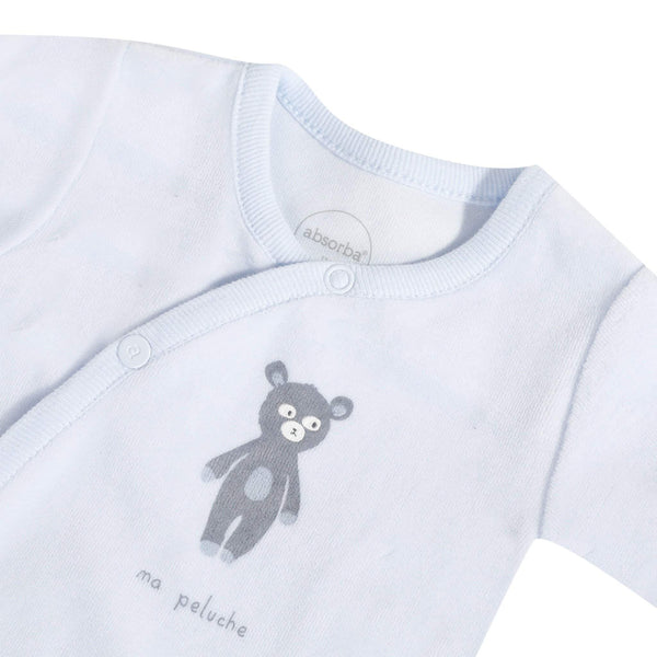Absorba Boy's sleepsuit with wrap-over opening