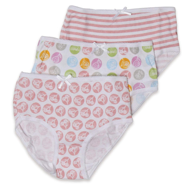 Jack & Jill Girls Designed Briefs Pack of 3