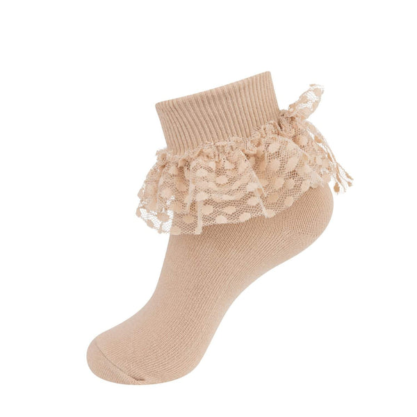 Jrp Dot Lace Anklet Sock