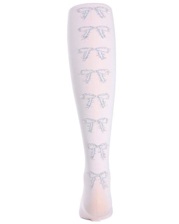 MeMoi Bow in the Back Opaque Girls Tights Style MK-729