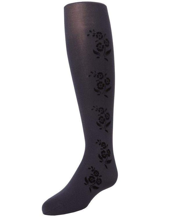 MeMoi Flocked Fabric Floral Tights Style: MK-745