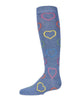 MeMoi Dazzling Hearts Knee-High Socks Style: MKF-7054