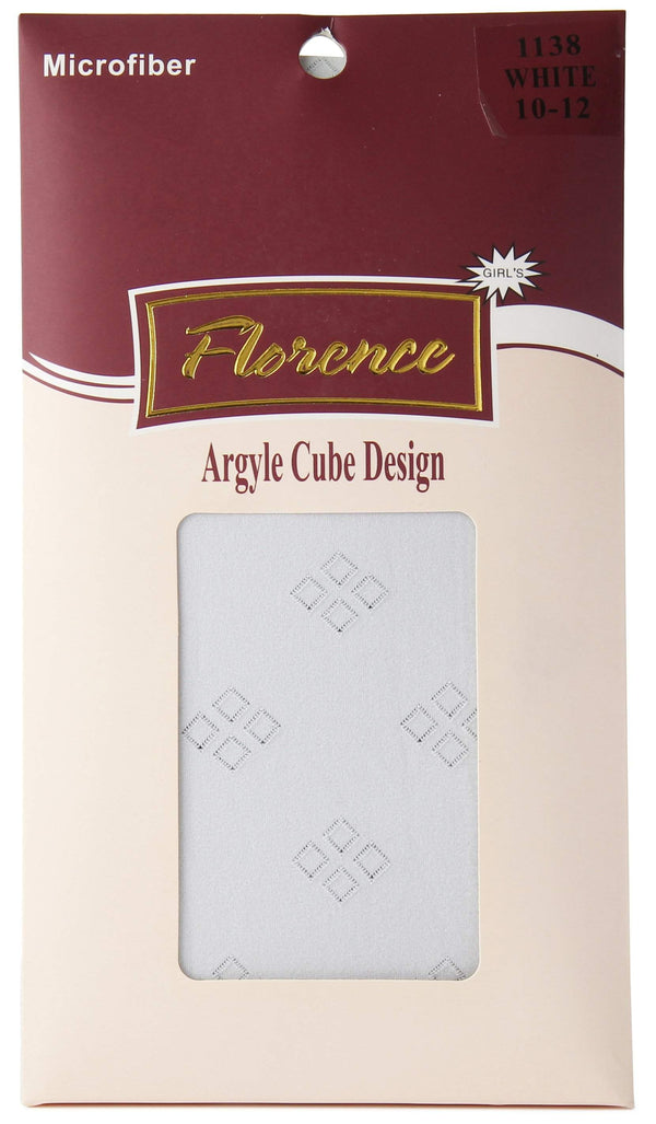Florence Girls Argyle Cube Design Tights Style: 1138
