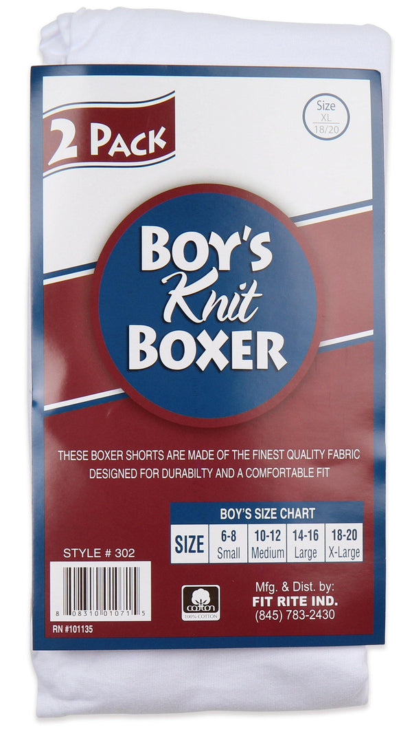 Fit Rite Boys knit Boxer Shorts Pack of 2