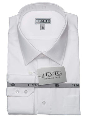 Ilmio Poly Cotton Silver Label Mens Shirt Left Over Right Slim Fit